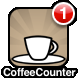 The badge on the app icon shows how many cups you have had today